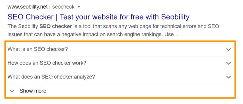 FAQ results