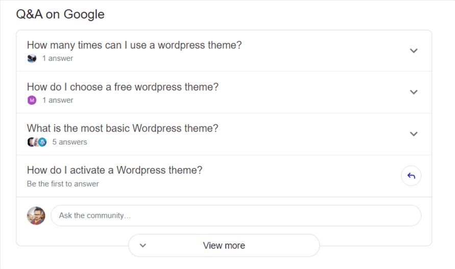 Q&A on Google