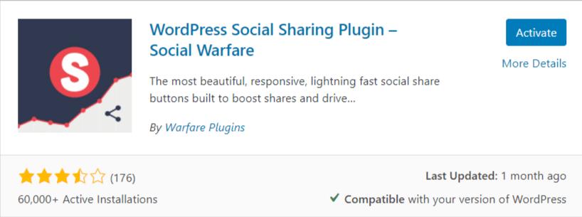Social warfare: freemium social share plugin