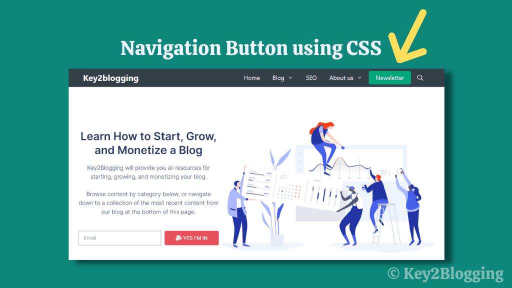 add button in navigation menu in Generatepress theme