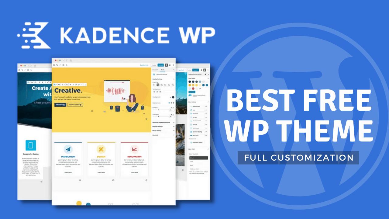 Kadence WP theme Customization