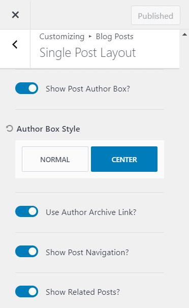 author box in Kadence theme