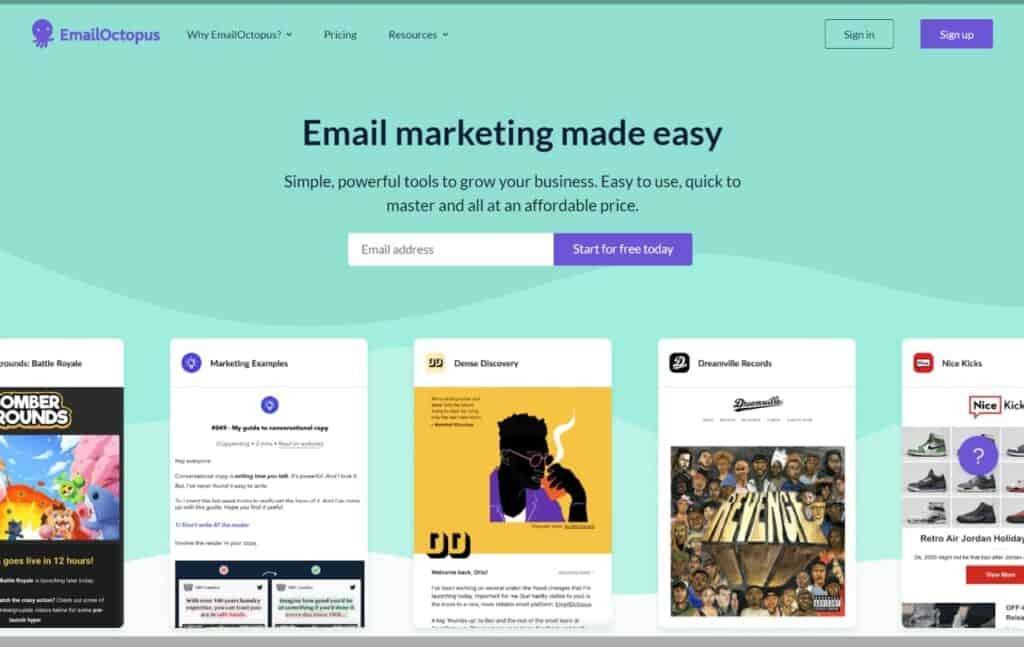 EmailOctopus autoresponder for affiliate marketing