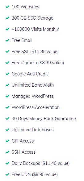 Hostinger business shared hosting features
