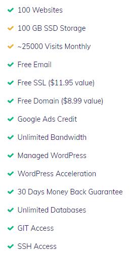 Hostinger premium shared hosting features