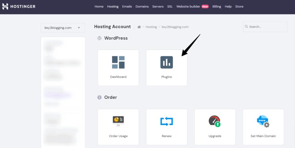 Hostinger-hPanel login To deactivate plugin