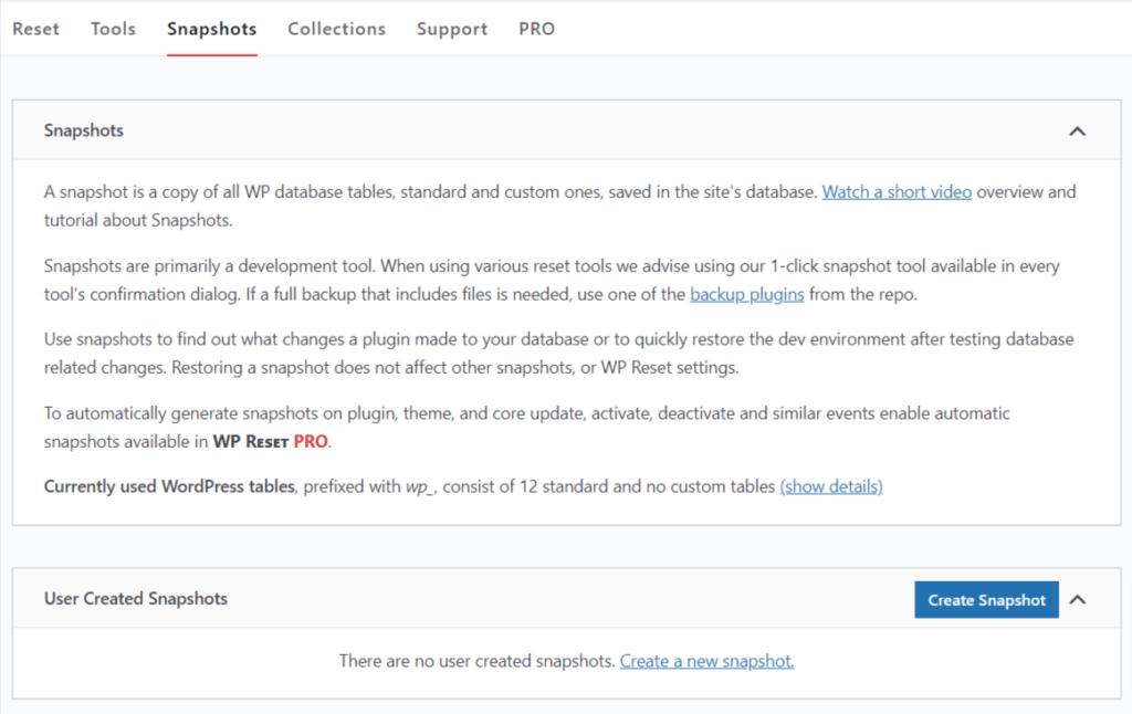 snapshot in wp-rest plugin
